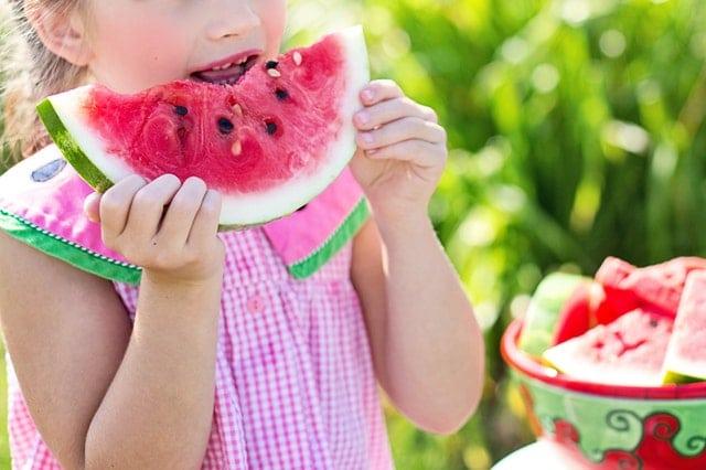 Young Girl Eating Watermelon -San Francisco